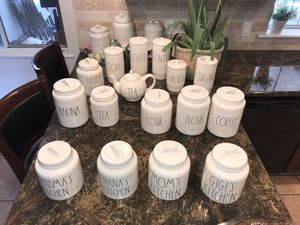 Rae Dunn Canister Set / Home Decor at its best ..🤠16 pieces for Sale in Sanger, CA