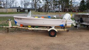 Fiberglass old school boat and trailer fun project with not much work needed for Sale in Rhinelander, WI