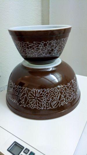 Minty DARK Brown Pyrex Woodland Bowls for Sale in San Dimas, CA