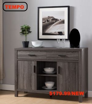 TV Stand/Buffet, Distressed Grey for Sale in Santa Ana, CA