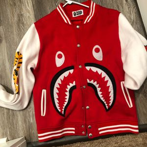 Authentic BAPE Letter man Jacket Usedd for Sale in Denton, TX
