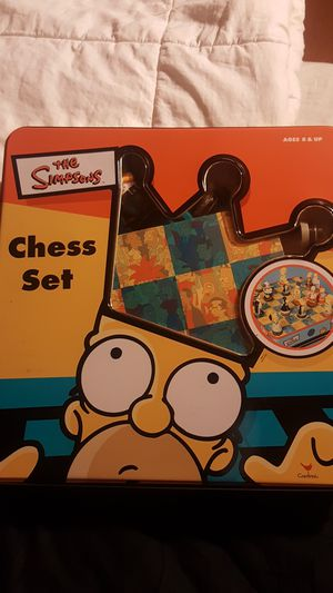 The simpsons chess set new in box for Sale in Oklahoma City, OK