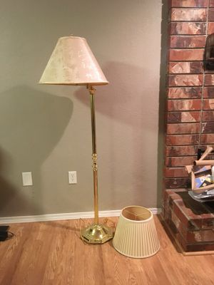 Brass lamp with two shades for Sale in Wenatchee, WA