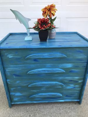 Blue beachy chest of drawers for Sale in Virginia Beach, VA