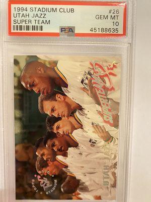 1994 Stadium Club Utah Jazz Super Team psa 10 pop 1 for Sale in Anaheim, CA