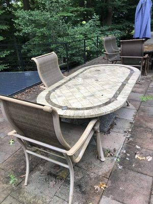 7 ft outdoor dining table. Stone for Sale in Annandale, VA