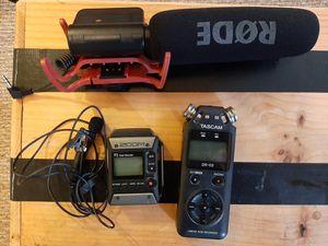 Tascam, Zoom, Rode audio kit for Sale in Philadelphia, PA