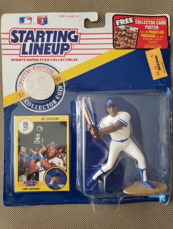 1991 STARTING LINEUP - SLU - MLB - BO JACKSON - KANSAS CITY ROYALS - (BATTING) BASEBALL