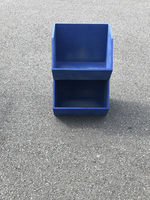 Blue storage stacking shelf for Sale in Alexandria, VA