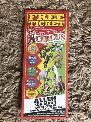 Garden Bros Circus for Sale in Garland, TX