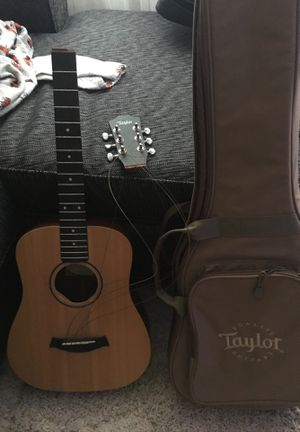 Broken baby Taylor guitar and gig bag for Sale in Columbus, OH