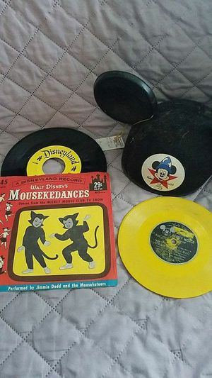 Disney lot Mousekedances 45 Ears Hat yellow record Mickey Mouse Club for Sale in Cincinnati, OH