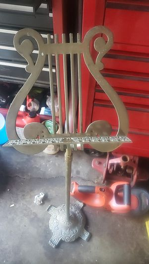 Brass music sheet stand for Sale in Evergreen Park, IL