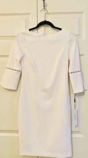 CAlVIN KLEIN (Petite) White Dress for Sale in HOFFMAN EST, IL