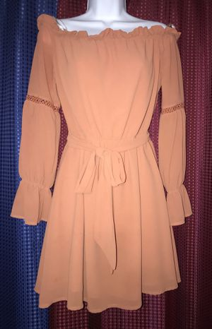 Cute Off Shoulder Pink Dress with Sash for Sale in Los Angeles, CA