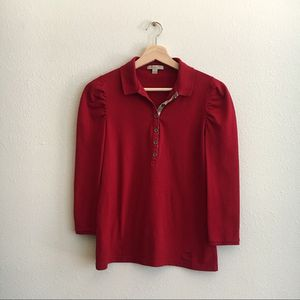 burberry brit puff sleeves polo shirt for Sale in Columbus, OH