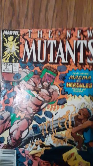 The new mutants marvel comic for Sale in Paragould, AR