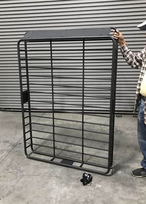 New in box XXL large 64x45x7 inches roof basket travel cargo carrier storage rack for suv car 4 mounting brackets included for Sale in Covina, CA