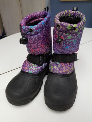 Northside snow boots rain boots thermal light size 1 kids for Sale in Colton, CA