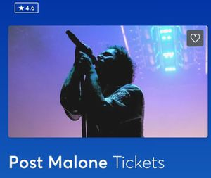 (2) Post Malone Tickets AAA Oct. 20th for Sale in Fort Lauderdale, FL
