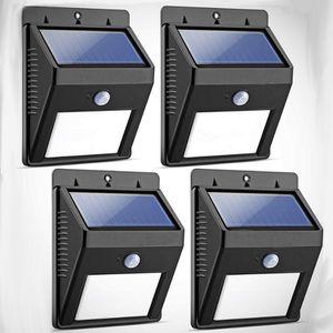 Lot of 4 Binval 8 LED Motion Sensor Solar Light for Sale in Ontario, CA