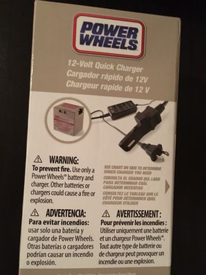 Power Wheels 12v charger - new in box for Sale in Tampa, FL