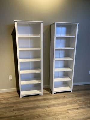 (2) Home Decorators Collection Oxford White Bookcases Heavy/Strong for Sale in Thornton, CO