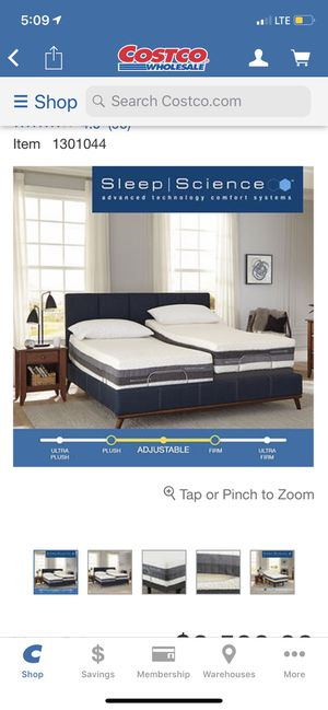 King size ajustable bed sleep science for Sale in San Leandro, CA