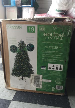 7.5 pre-lit christmas tree original price 298.99 for Sale in West Palm Beach, FL