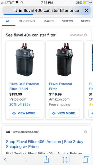 Fluval 406 canister filter (3 months old) for Sale in Conroe, TX