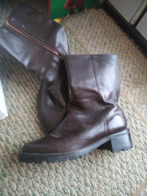 Newer Brown Leather Boots for Sale in Cincinnati, OH