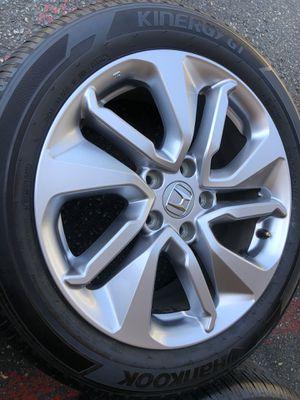 Rims tires 17 5x114.3 fit hora Accord civic crv for Sale in Santa Ana, CA