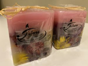 Set of three heart shaped candles for Sale in Fontana, CA