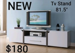 TV Stand in White and Distressed Gray for Sale in Ontario, CA