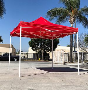 $90 NEW Red 10x10 Ft Outdoor Ez Pop Up Wedding Party Tent Patio Canopy Sunshade Shelter w/Bag for Sale in Montebello, CA