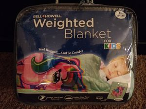 Bell + Howell wieighted unicorn blanket for kids 7 lbs NEW for Sale in Phoenix, AZ