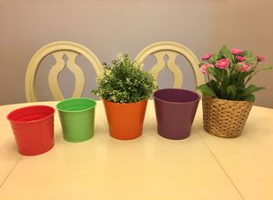 Artificial flowers and pots for Sale in Orlando, FL
