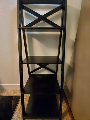 4-tier black ladder shelf for Sale in Las Vegas, NV