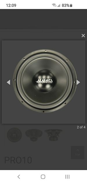 Mmats pro audio, subwoofer 10 for Sale in Gibsonton, FL