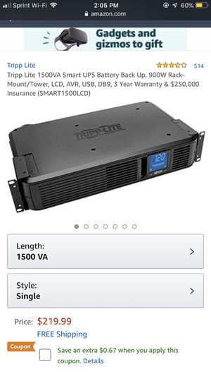 Tripp-Lite back up battery for Sale in Arkoma, OK