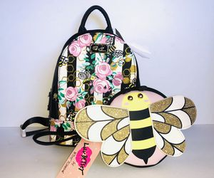 Betsey Johnson Backpack and Coin Purse, Bumble Bee Floral for Sale in Cerritos, CA
