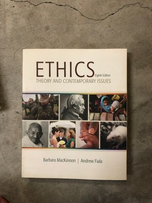 Ethics Theory and Contemporary Issues Eight Edition by Barbara MacKinnon and Andrew Fiala for Sale in Orange, CA