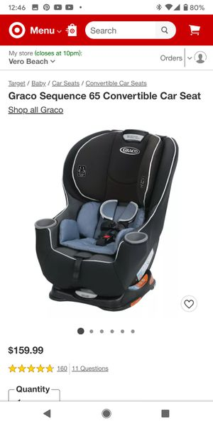 Evenflo Sonus 65 Convertible Car Seat for Sale in Vero Beach, FL