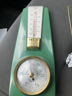Vintage Taylor thermometer and barometer combo for Sale in Durham, NC