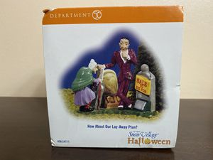 How About Our Lay-Away Plan?-Dept 56 Halloween for Sale in Midland, TX