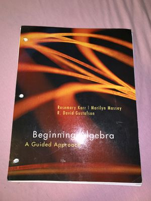 Beginning Algebra college math book for Sale in Fontana, CA
