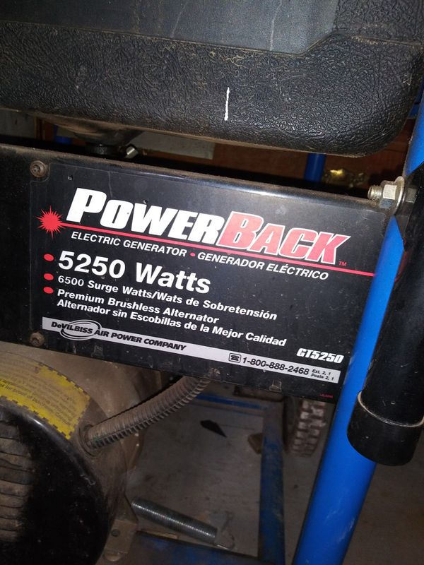 Powerband. 5250 generator