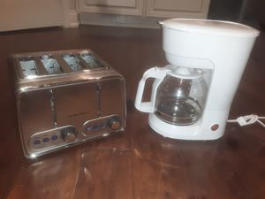 Coffee maker and double toaster for Sale in Bartow, FL
