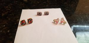 3 pairs of retro stud earrings for Sale in St. Petersburg, FL