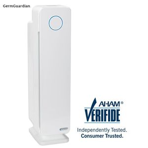 GermGuardian Elite 4-in-1 True HEPA Air Purifier with UV Sanitizer and Odor Reduction 28 in. Digital Tower for Sale in Dallas, TX